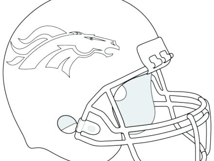 440x330 Seahawks Coloring Pages Helmet Coloring Page Broncos Helmet