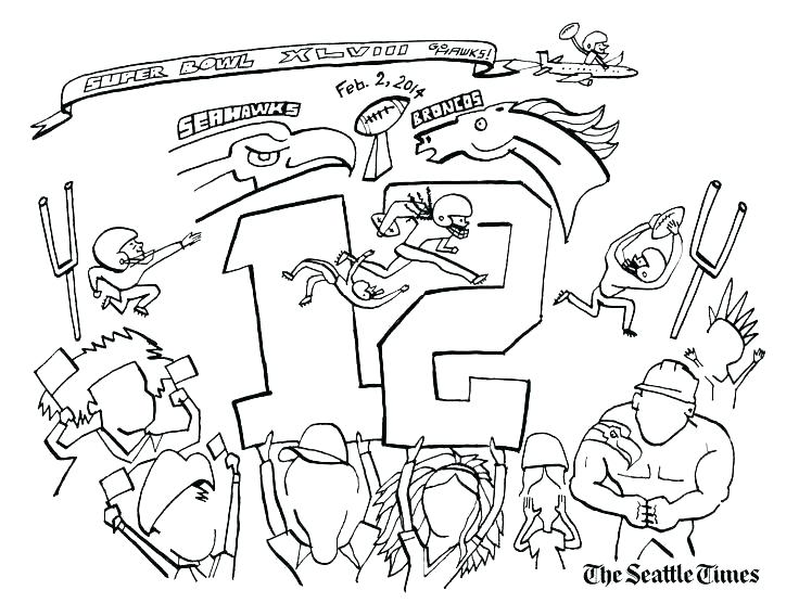 736x568 Seattle Seahawks Coloring Pages Free Page With Logo Hawks Times