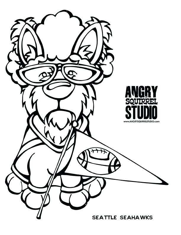 612x792 Seattle Seahawks Football Helmet Coloring Page Teams Pages Mascot