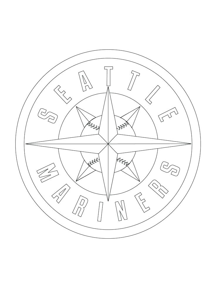 736x981 Seattle Seahawks Logo Coloring Pages Mariners Logo Coloring Page