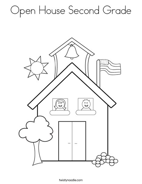 468x605 Open House Second Grade Coloring Page