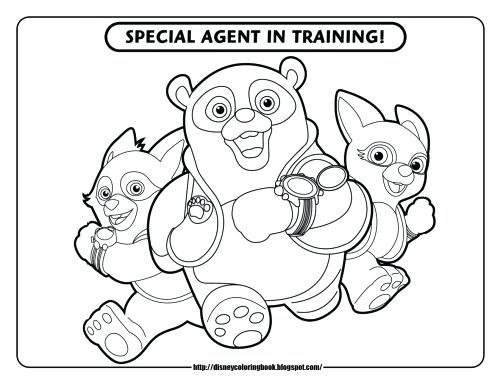 500x386 Secret Agent Oso Coloring Pages And P Page Image Images Trend