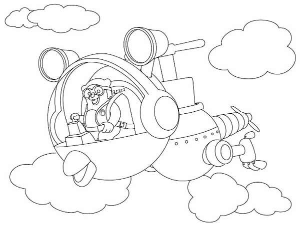 600x463 Special Agent Oso Riding Whirly Bird In Special Agent Oso Coloring