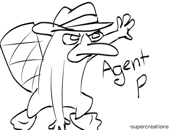600x450 The Platypus Coloring Pages Secret Agent Coloring Pages Free