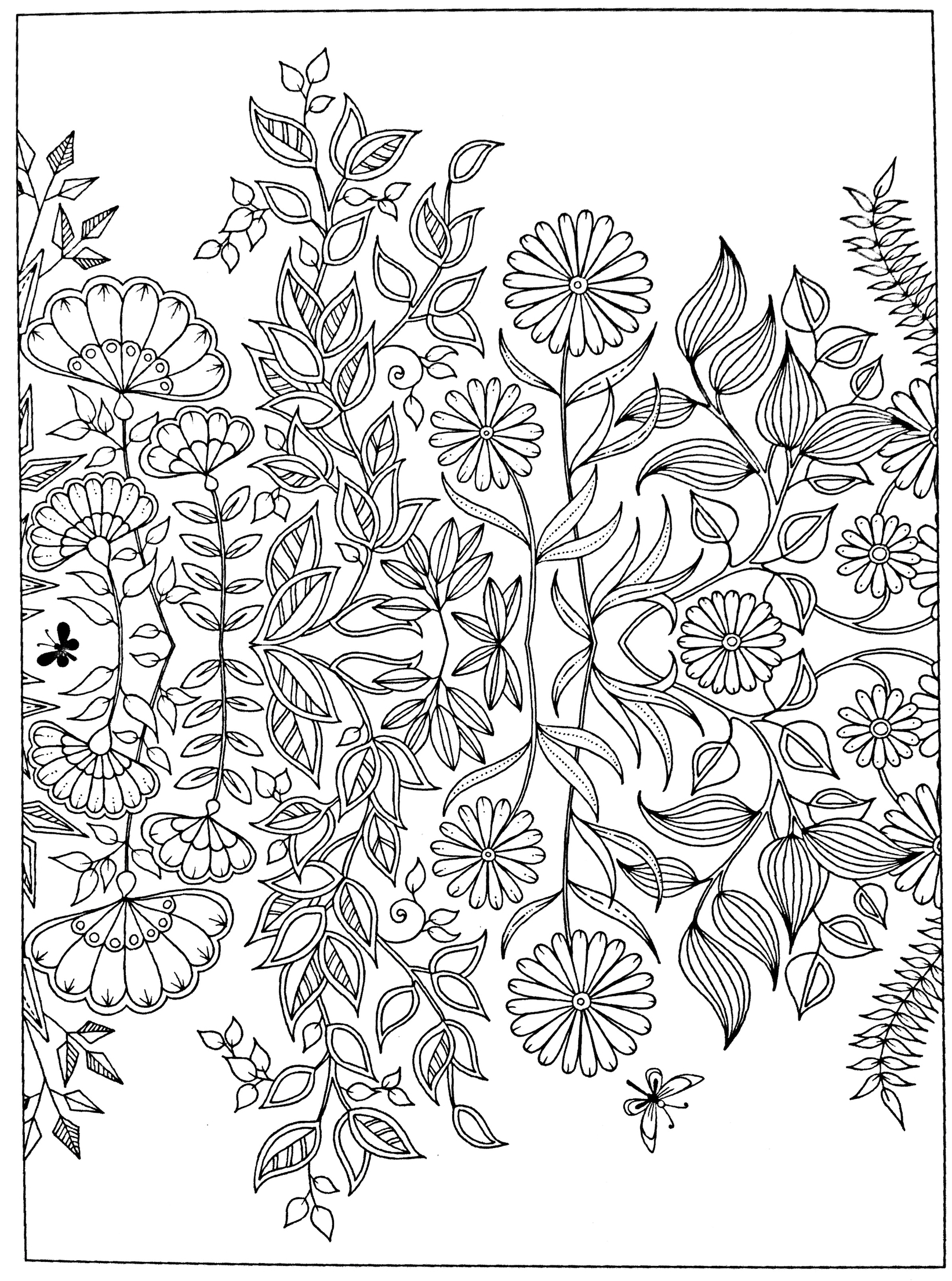 1642x2208 Free Adult Coloring Page Secret Garden Coloring Pages