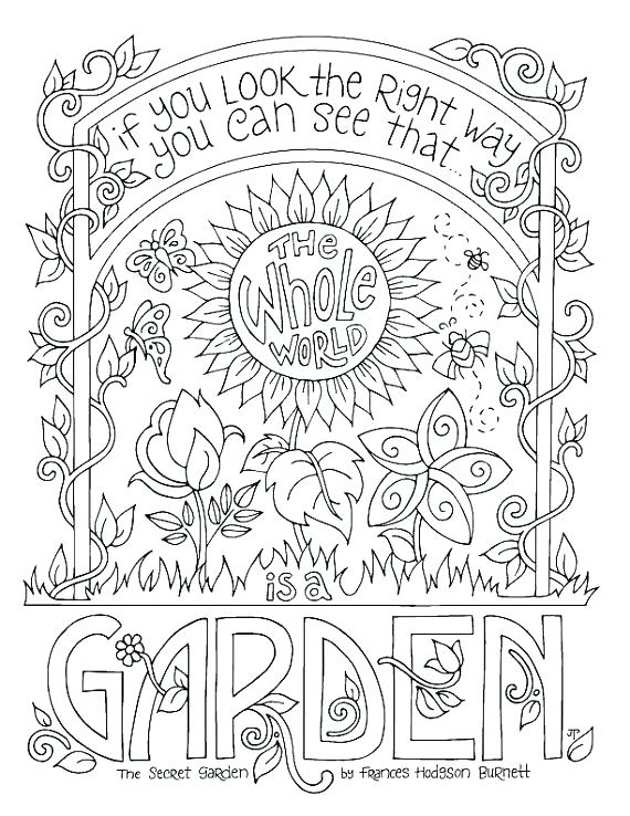 570x738 Vegetable Garden Coloring Pages Garden Coloring Pages Secret