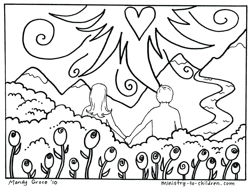 1024x764 With Secret Garden Coloring Book Garden Of Eden Coloring Pages