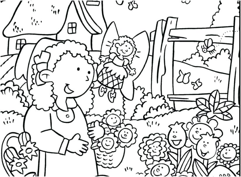 827x609 Coloring Pages Garden Garden Coloring Pages From Concept