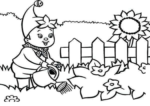 600x425 Coloring Pages Garden Noddy Waters The Garden Coloring Pages Free