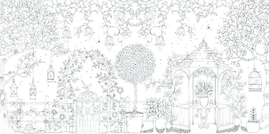 878x439 Flower Garden Coloring Pages Flower Garden Coloring Pages