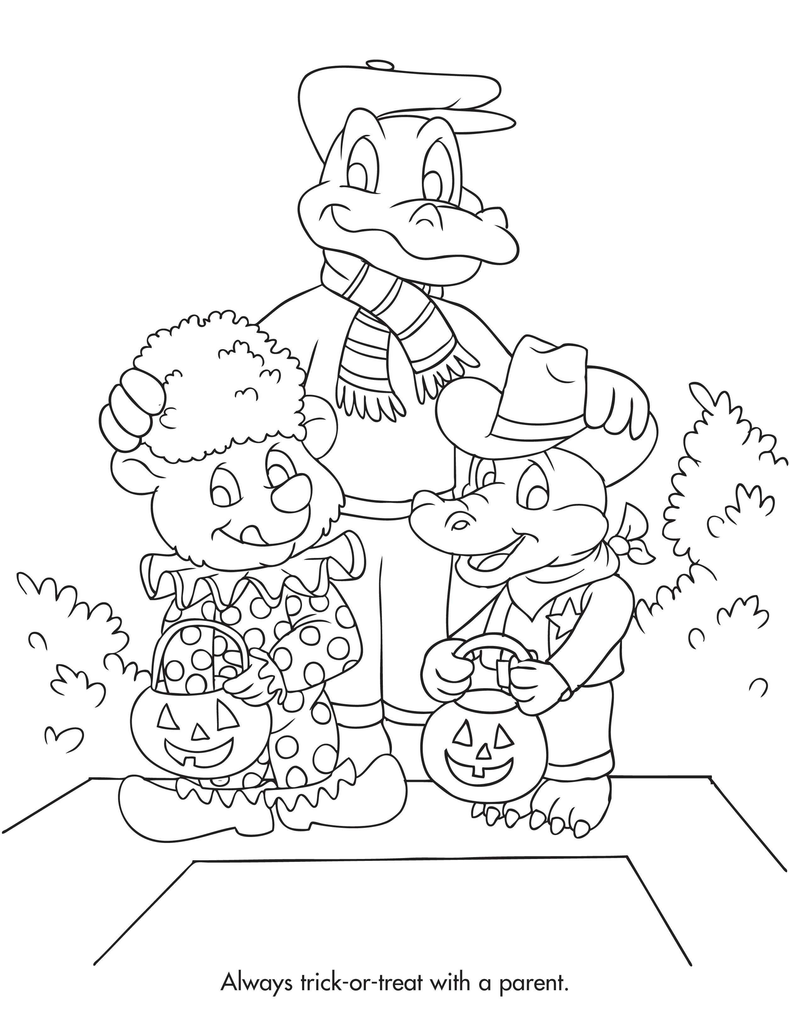 2508x3262 Halloween Safety Coloring Page Coloring And Activity Sheets