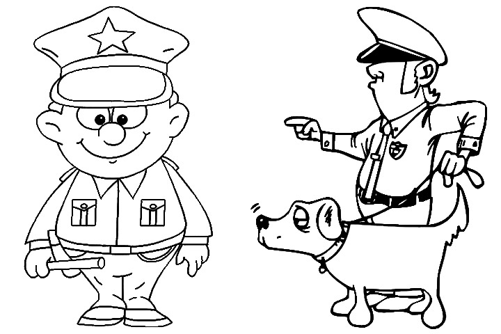 720x480 Police Officer Coloring Pages Printable