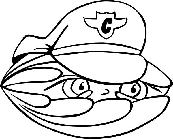 600x482 Clam Security Guard Clip Art