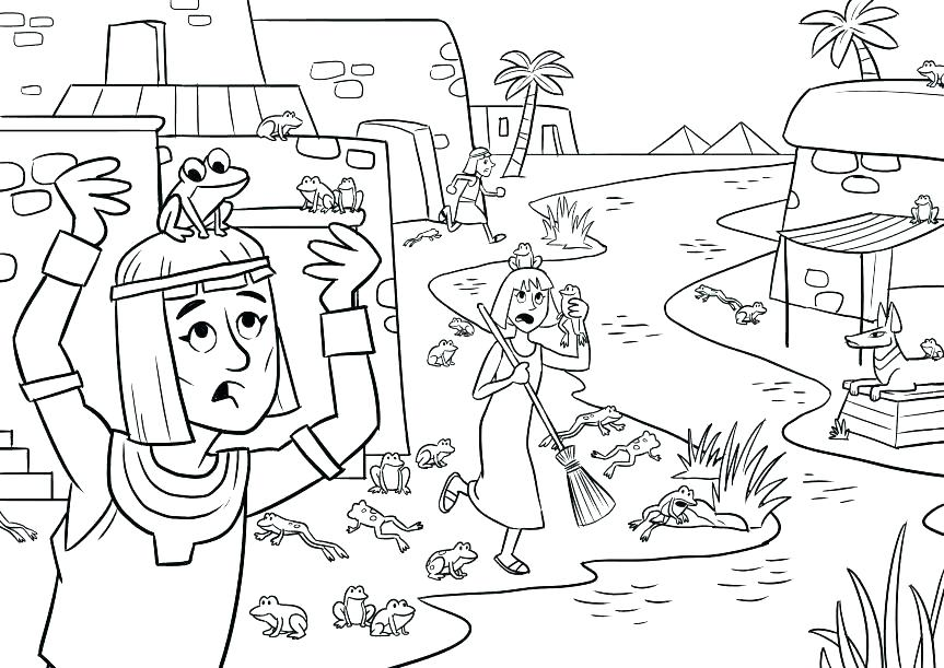 863x611 Passover Coloring Page Coloring Page Coloring Page The Plagues