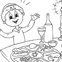 200x200 Passover Coloring Pages Surfnetkids