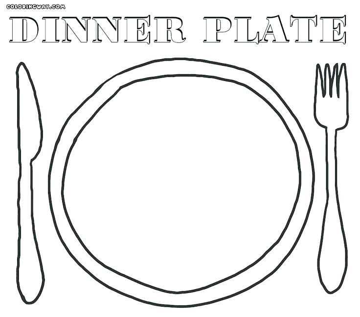 736x649 Plate Coloring Page Plate Coloring Page Ideas Plate Coloring Page