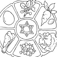 200x200 Seder Plate Coloring Pages Surfnetkids