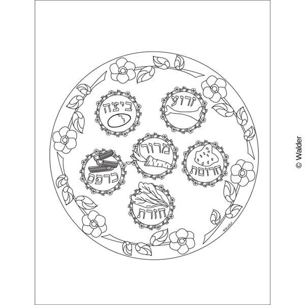 600x600 Illustrated Seder Plate Walder Education
