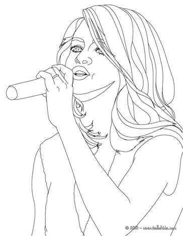 364x470 Selena Gomez Coloring Pages