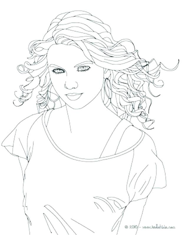 618x798 Selena Gomez Coloring Page Swift Coloring Book Coloring Pages