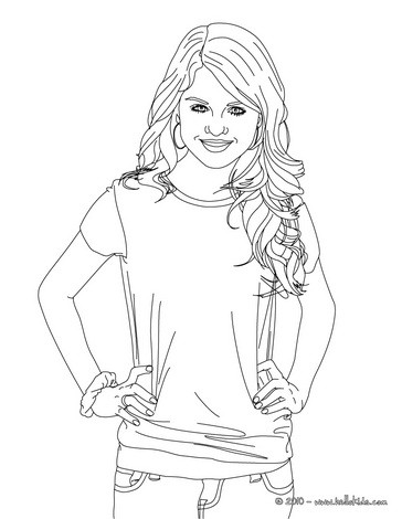 364x470 Selena Gomez Actress Coloring Pages