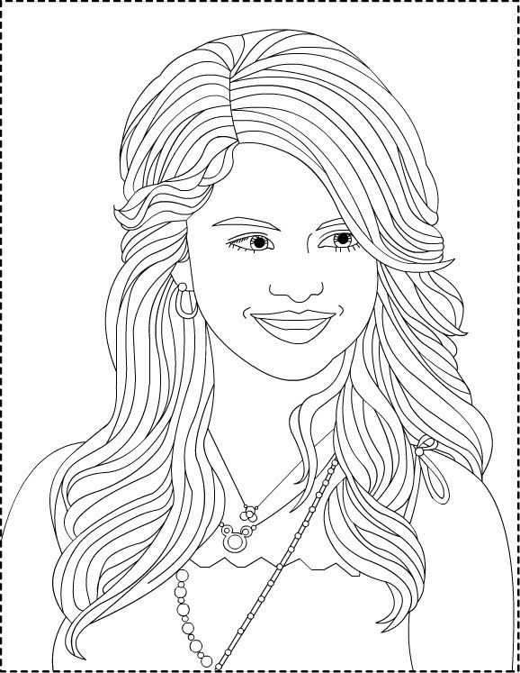 578x747 Coloring Pages To Print Selena Gomez Coloring Pages Jhj