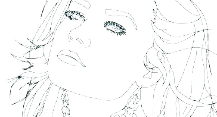728x393 Selena Gomez Coloring Page