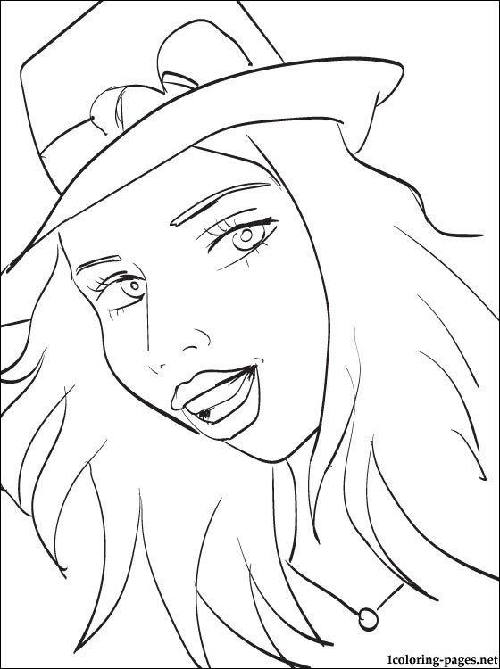 560x750 Coloring Page Selena Gomez Coloring Pages