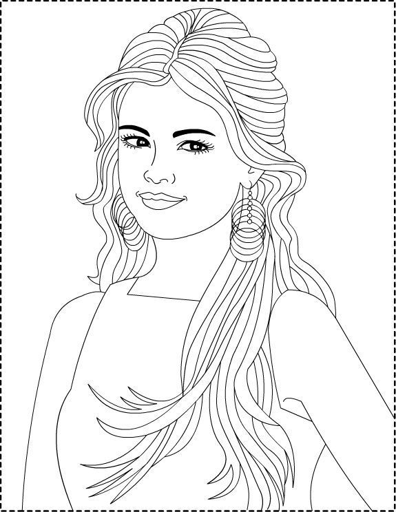 Selena Gomez And Demi Lovato Coloring Pages