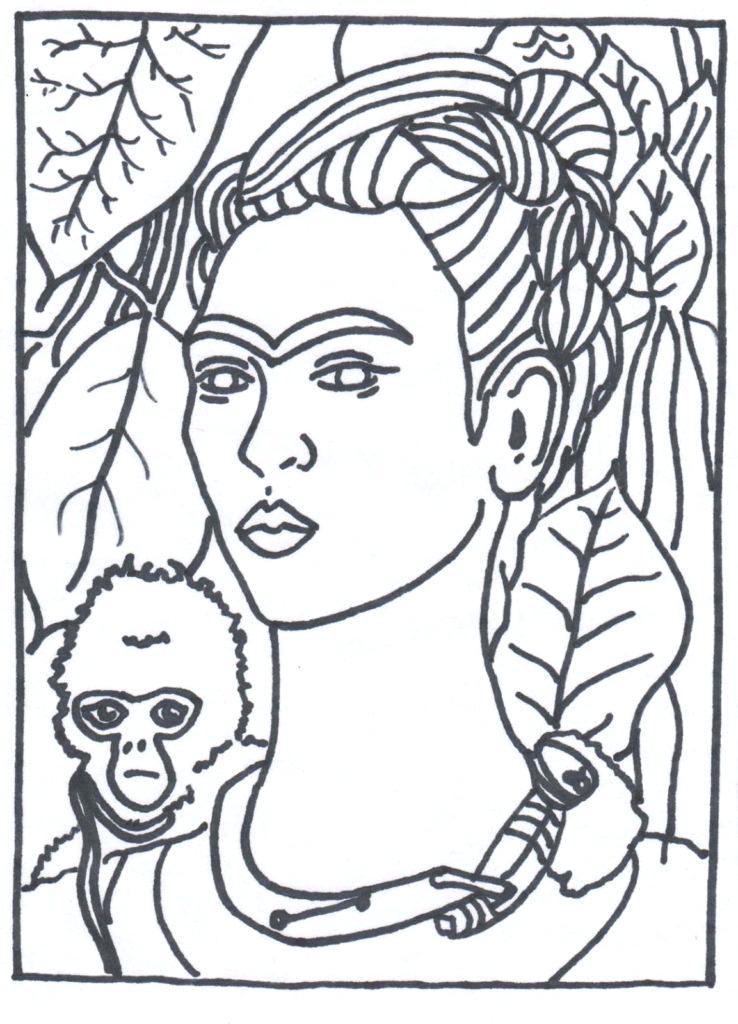 738x1024 Self Portrait Coloring Page Self Portrait Coloring Page Click