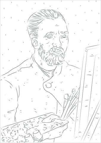339x480 Self Portrait Coloring Page Van Coloring Page Self Portrait