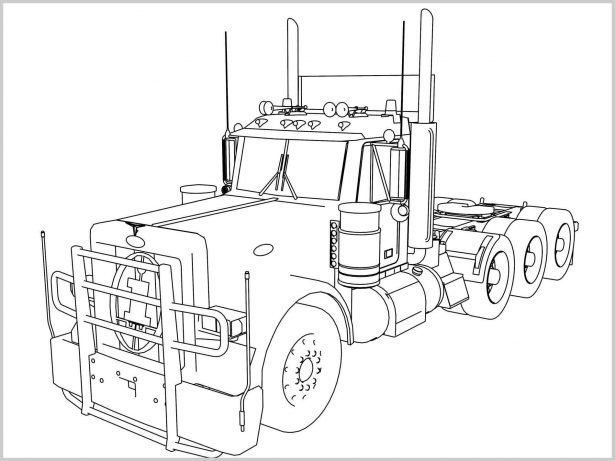 615x461 Semi Coloring Pages Kenworth W Coloring Pages Plastic Model
