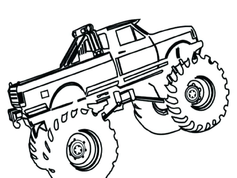940x705 Semi Coloring Pages Monster Truck Grave Digger Coloring Also Grave