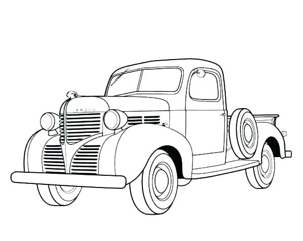 600x477 Semi Truck Coloring Pages