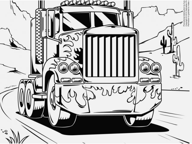 640x480 Camper Coloring Pages Images Innovative Coloring Pages Semi Trucks