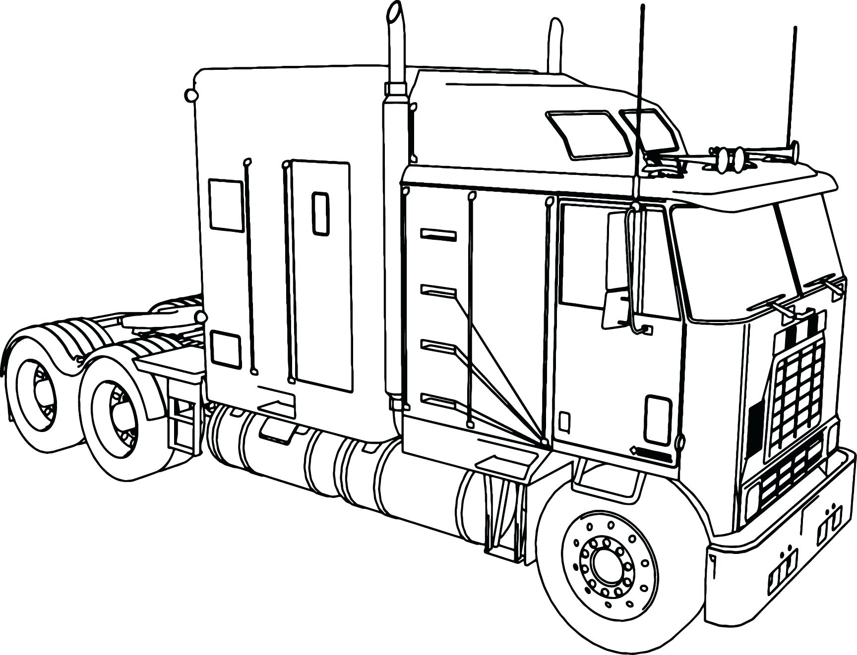 1728x1322 Semitrailer Semi Truck Coloring Page Pages Christmas Reindeer