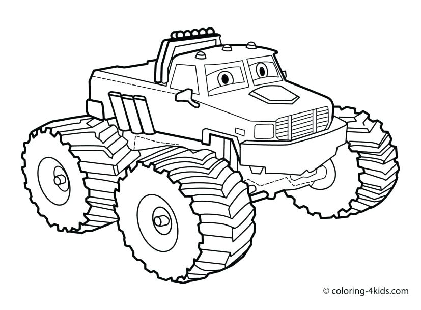 827x609 Truck Coloring Page Easy Monster Truck Coloring Pages And Monster