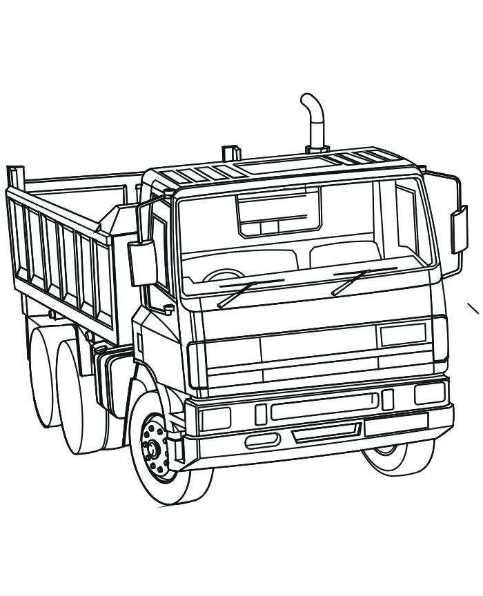 700x864 Semi Truck Coloring Pages