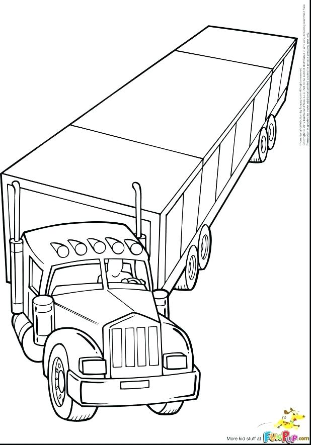 618x885 Dump Truck Coloring Pages Truck Coloring Pages Beautiful Truck