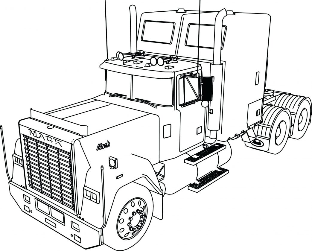 1043x839 Lego Semi Truck Coloring Pages Tractor And Sheets Double Tanker
