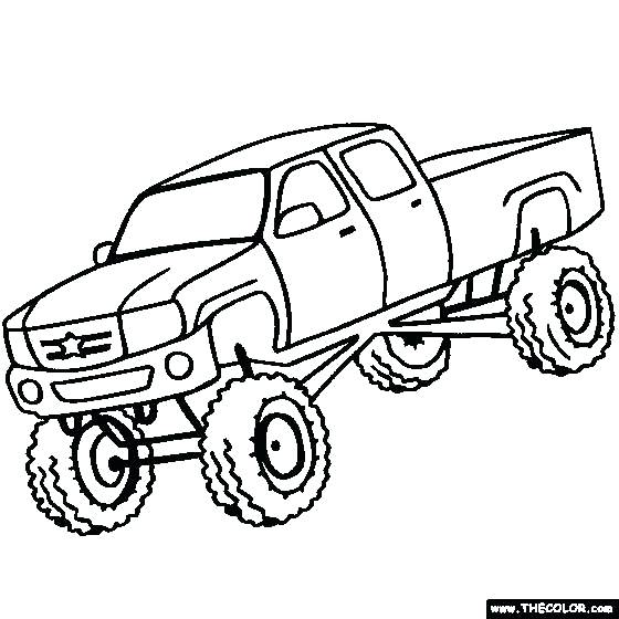 560x560 Printable Semi Truck Coloring Pages Free Download