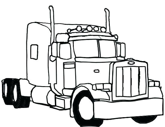 Semi Truck Coloring Pages At Getdrawings Free Download