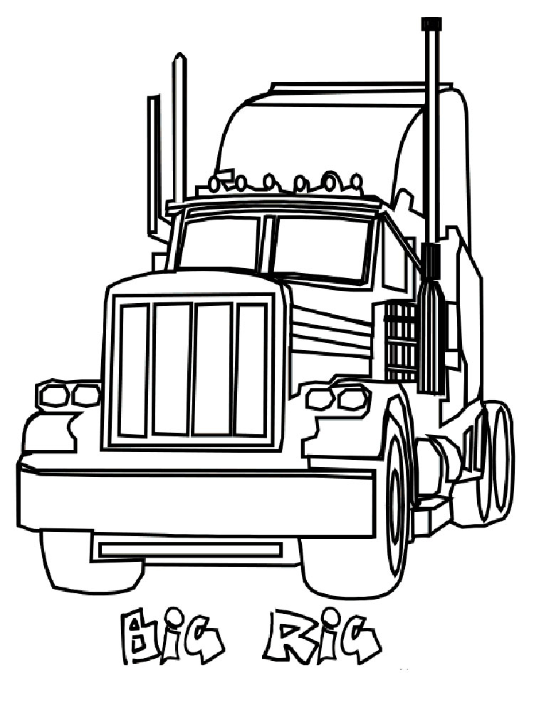 semi truck coloring pages 30