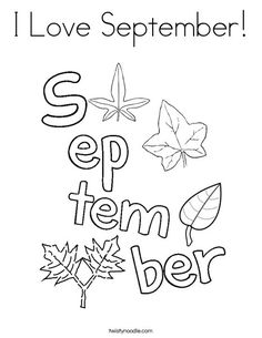 236x305 I Love April Coloring Page
