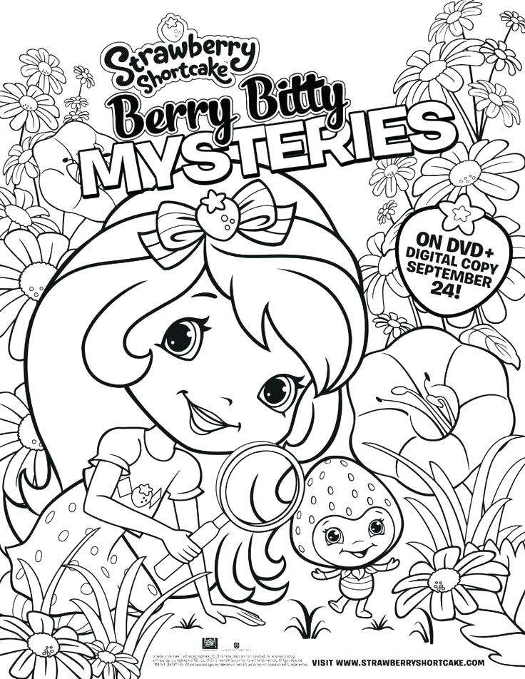 736x952 Strawberry Shortcake And Friends Coloring Pages Strawberry