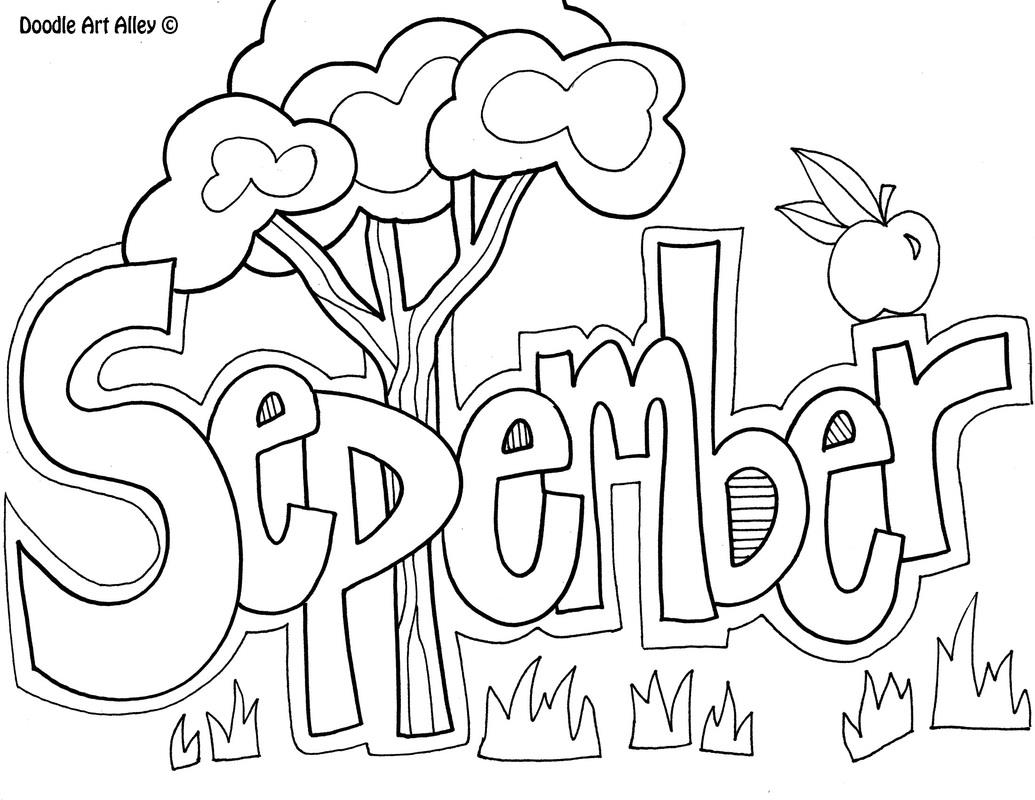 1035x800 September Coloring Pages Just Colorings