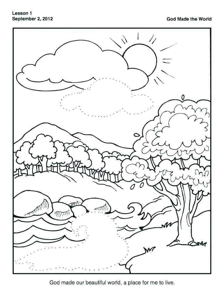 767x1024 Coloring Pages Of Mandala To Print For Creation Days Day