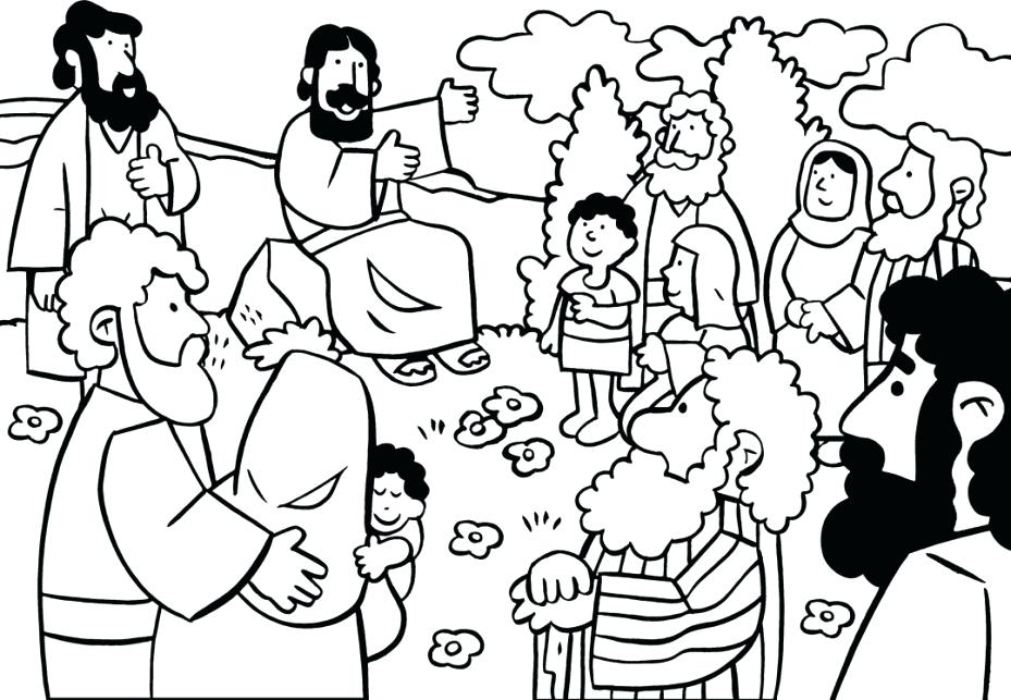 Sermon On The Mount Coloring Page at GetDrawings.com | Free for ...