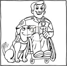 Service Dog Coloring Pages