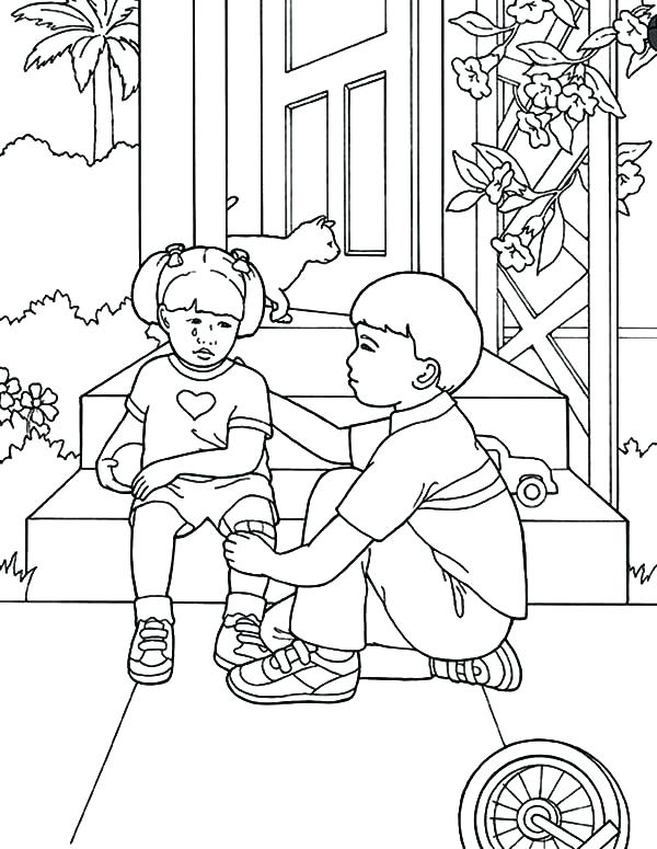 600x775 Helping Others Coloring Pages Service Dog Coloring Pages